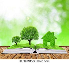 książka, ekologiczny