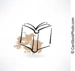 książka, grunge, ikona