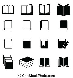 książka, komplet, ikona