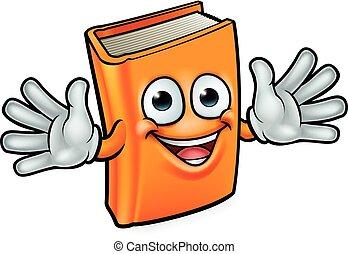 książka, litera, rysunek, maskotka