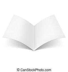 książka, otwarty, czysty