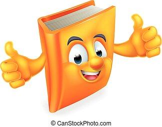 książka, rysunek, człowiek