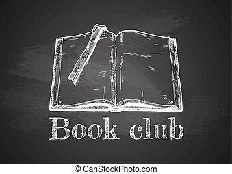książka, stary, otworzony