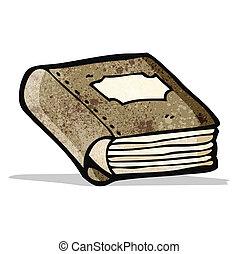 książka, stary, rysunek