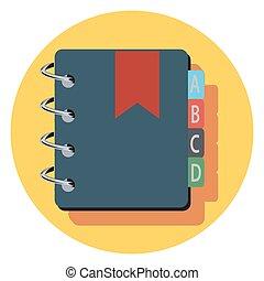 książka, uniwersalny, komplet, nazwa, icons.eps
