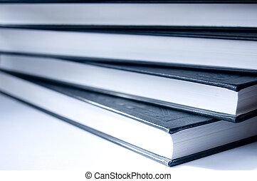 książki, konceptualny, image.