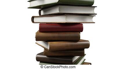 książki, nowoczesny, stóg