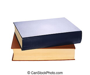 książki, odizolowany, na białym