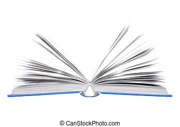 książki, otwarty
