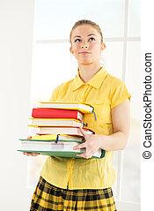 książki, samiczy student