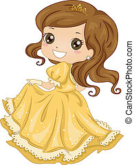 księżna, suknia