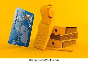 księgowość, karta, tło, kredyt