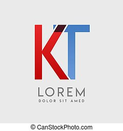 KT logo letters with blue and red gradation
