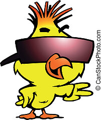 kuře, sunglass, chlad