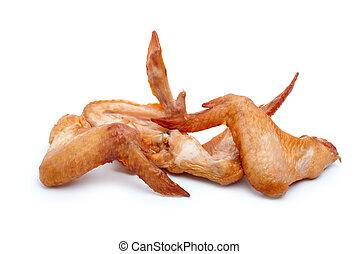 kuře, uzený, nějaký, křídla