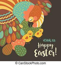 kuře, velikonoční obalit v rozšlehaných vejcích