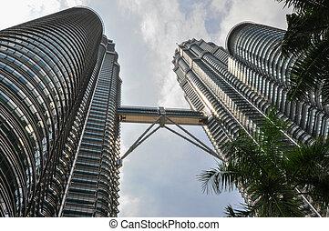 KUALA LUMPUR - APRIL 10: General view of Petronas Twin...