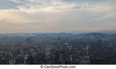 Kuala Lumpur city aerial timelapse 4k