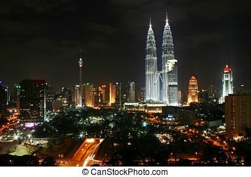 Kuala Lumpur City Night Scene, Malaysia
