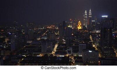 Kuala Lumpur Cityscape at Night. 1080p footage - Dramatic...