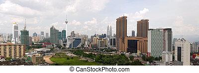 Kuala Lumpur Daytime Cityscape Panorama