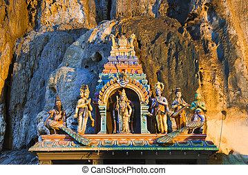 kuala-lumpur, dio, caverne, malaysia, batu, statua