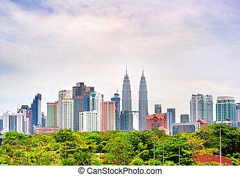 Kuala Lumpur Downtown, Malaysia - Skyline of Kuala Lumpur in...