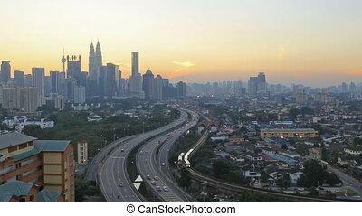 Kuala Lumpur Highway Traffic - Ampang Kuala Lumpur Elevated...