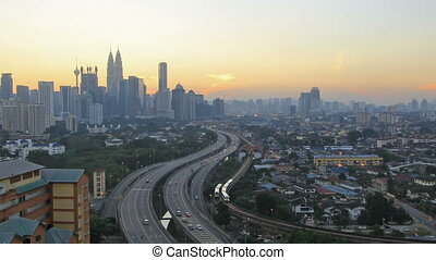 Kuala Lumpur Highway Traffic