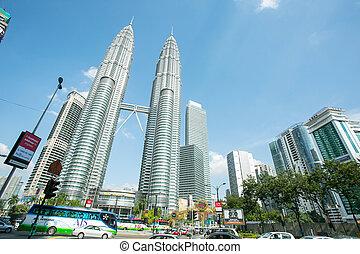 KUALA LUMPUR, MALAYSIA - JUNE 25: Twilight time of KLCC show...