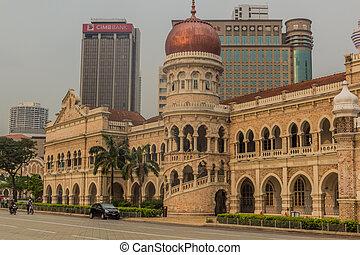 KUALA LUMPUR, MALAYSIA - MARCH 29, 2018: Sultan Abdul Samad Building in Kuala Lumpur, Malays