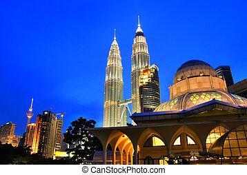 Kuala Lumpur, Malaysia - Famous Asy-Syakirin Mosque with...