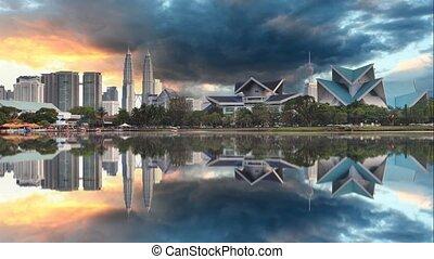 Kuala Lumpur, Malaysia skyline Time lapse