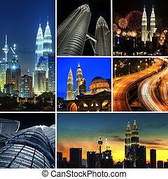 Kuala Lumpur Malaysia - Collage photo of Kuala Lumpur...