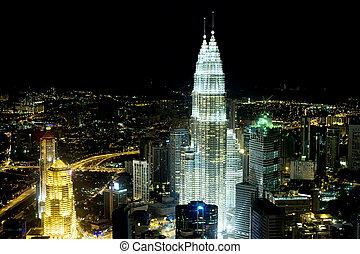Kuala Lumpur - Panorama of Kuala Lumpur from KL Tower in the...