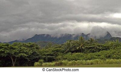 Kualoa Regional Park, Timelapse - Clouds Time Lapse shot at...