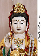 Kuan deities statue of china. - The focus Kuan deities...