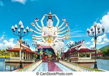 Kuan Yin statue, Samu - Kuan Yin statue on Koh Samui,...