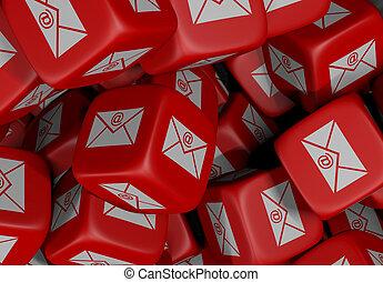 kub, telekommunikation, röd