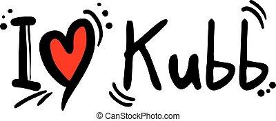 Kubb love - Creative design of Kubb love