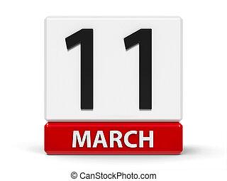 kuben, kalender, 11, mars