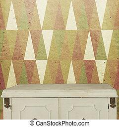 kubus, dek, houten, ouderwetse , behang, achtergrond, tafel