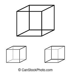 kubus, optische illusie, necker
