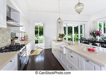 kuchnia, i, jadalna powierzchnia