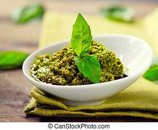 kuchnia, pesto, sauce., włoski