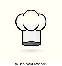 kuchyňské nádobí, vrchní kuchař povolání, byt, icon.,...