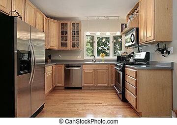 kuchyně, do, luxusní útulek