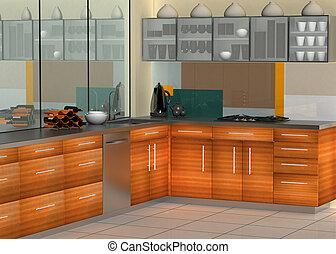 kuchyně, moderní