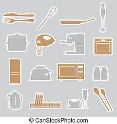 kuchyně, prasečkář, dát, eps10