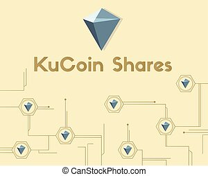KuCoin Shares cryptocurrency modern background